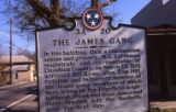 Tennessee State Historical Marker 3A 20, The James Gang, Nashville, Tennessee, n.d.
