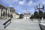 Legislative Plaza, Tennessee State Capitol and War Memorial Building, circa 1978 September 04